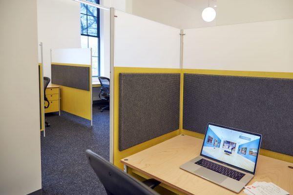 workstations with soundsoak partition